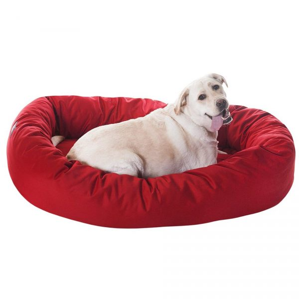 Poly/Cotton Bagel Dog Bed - Majestic Pet