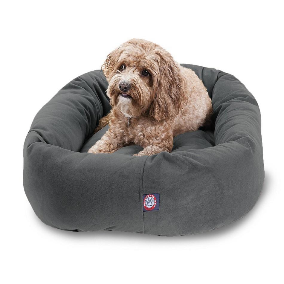 Suede Bagel Dog Bed